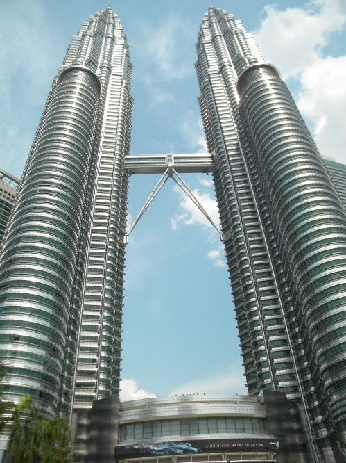 The Petronas Towers are HUGE!